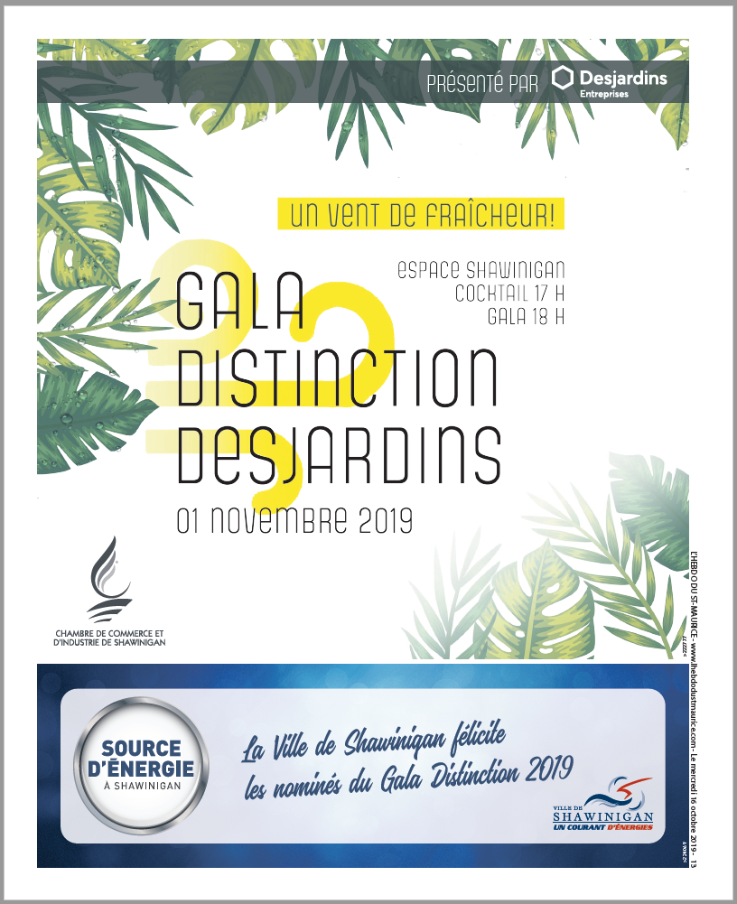 GALA DISTINCTION DESJARDINS - 16 OCTOBRE 2019