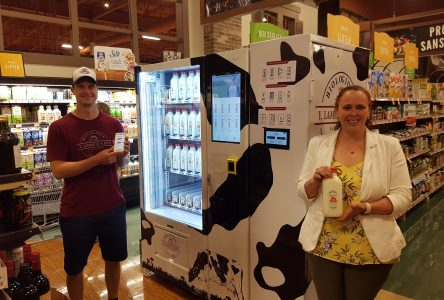 Une machine distributrice… de lait